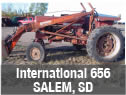 International 656 tractor salvaged for parts