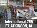International 756 tractor with loader and tractor cab for parts