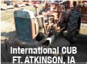 International Cub tractor available for used parts