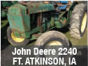 John Deere 2240 tractor for used parts
