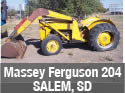 Used Massey Ferguson 204 tractor parts with loader
