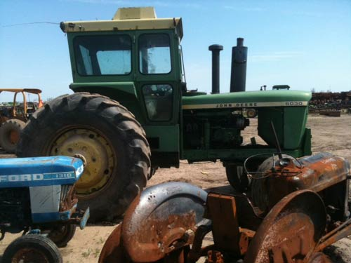 John Deere 6030 tractor salvaged for used parts. This unit is available at All States Ag Parts in Sikeston, MO. Call 877-530-7720 parts. Unit ID#: EQ-15192. The photo depicts the equipment in the condition it arrived at our salvage yard. Parts shown may or may not still be available. http://www.TractorPartsASAP.com
