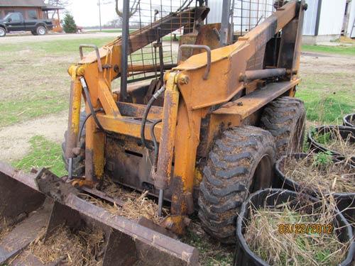 Case Loader Parts : Salvaged case skid steer loader for used parts eq