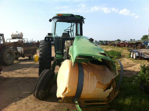 Salvaged John Deere 4955 Tractor For Used Parts Eq 18938