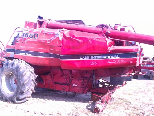 Salvaged 1988 Case Ih 1660 Combine For Used Parts Eq