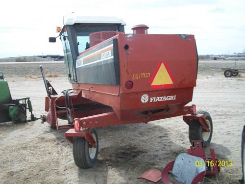 Used Hesston 8400 hay equipment parts. Rear photo EQ-19929