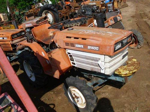 Kubota B1400 tractor salvaged for used parts. This unit is available at All States Ag Parts in Black Creek, WI. Call 877-530-2010 parts. Unit ID#: EQ-20592. The photo depicts the equipment in the condition it arrived at our salvage yard. Parts shown may or may not still be available. http://www.TractorPartsASAP.com