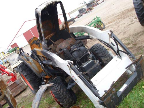 Bobcat CT450 tractor salvaged for used parts. This unit is available at All States Ag Parts in Black Creek, WI. Call 877-530-2010 parts. Unit ID#: EQ-21350. The photo depicts the equipment in the condition it arrived at our salvage yard. Parts shown may or may not still be available. http://www.TractorPartsASAP.com