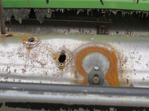 Used John Deere 224 header parts - rear photo EQ-21522