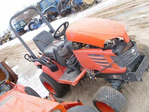 Kubota BX2350 tractor salvaged for used parts. This unit is available at All States Ag Parts in Black Creek, WI. Call 877-530-2010 parts. Unit ID#: EQ-21908. The photo depicts the equipment in the condition it arrived at our salvage yard. Parts shown may or may not still be available. http://www.TractorPartsASAP.com