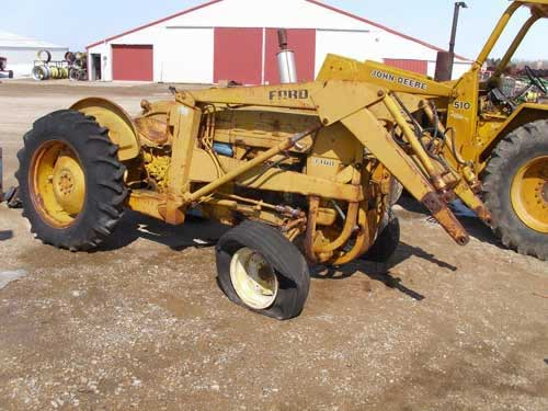 Salvaged Ford 3400 Tractor For Used Parts