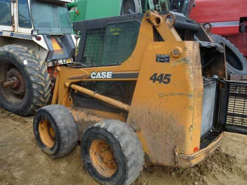 Used Case 445 skid steer loader parts. Front photo EQ-22030