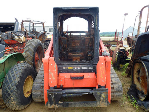 Kubota SLV90 skid steer loader salvaged for used parts. This unit is available at All States Ag Parts in Downing, WI. Call 877-530-1010 parts. Unit ID#: EQ-22089. The photo depicts the equipment in the condition it arrived at our salvage yard. Parts shown may or may not still be available. http://www.TractorPartsASAP.com