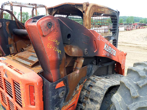 Used Kubota SLV90 skid steer loader parts. Rear photo EQ-22089