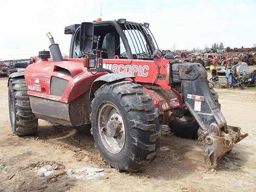 Manitou MLT741 industrial salvaged for used parts. This unit is available at All States Ag Parts in Black Creek, WI. Call 877-530-2010 parts. Unit ID#: EQ-22137. The photo depicts the equipment in the condition it arrived at our salvage yard. Parts shown may or may not still be available. http://www.TractorPartsASAP.com