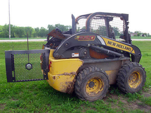 Used New Holland L220 skid steer loader parts. Rear photo EQ-22488