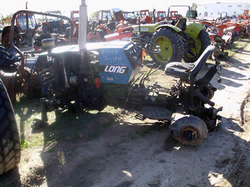 Long Backhoe Parts : Salvaged long tractor for used parts eq all