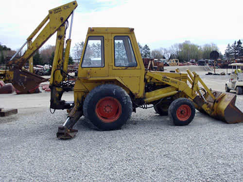 Used Case Backhoe Parts : Salvaged case b industrial for used parts eq