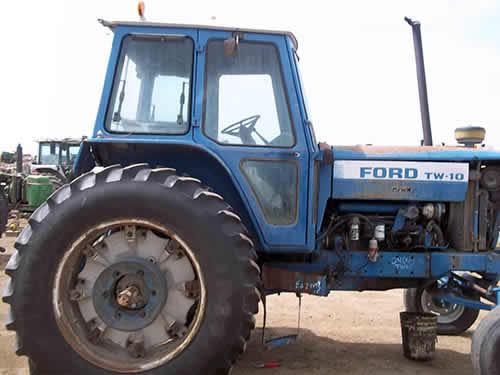 Ford Backhoe Salvage Parts : Salvaged ford tw tractor for used parts eq
