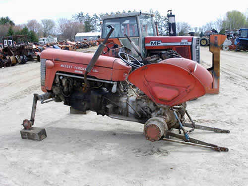 Used Tractor Parts Salvage Yards : Massey ferguson tractor salvaged for used parts this
