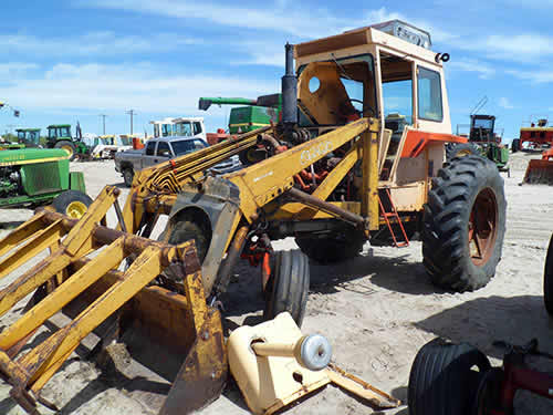 Used Case Backhoe Parts : J i case tractor salvaged for used parts this unit
